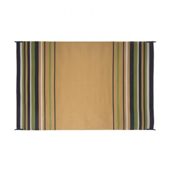 TAPIS 8' X 20' ; Navy/ White/ Lime/ Beige Stripe