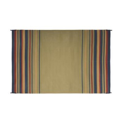 TAPIS 5' x 3' ; Blue/ Brick/ Beige/ Green