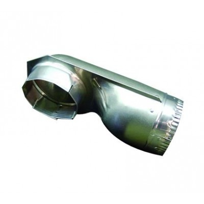 Tuyau 90 degrés ,  4-1 / 2 pouces; Aluminium